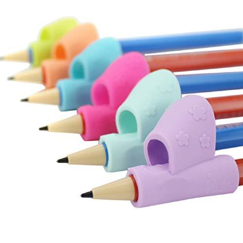 Pencil Grips,Children Pencil Holder Pen Writing Aid Grip Posture Correction Tool Silicone Pencils Training Grip By Orangeskycn (1 Set (3 Pcs))