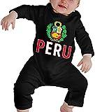 WlQshop Mono para Bebé,Mameluco Bebé Unisex Peru Flag Peruvian Toddler Baby Boy Girl Long Sleeve Infant Bodies