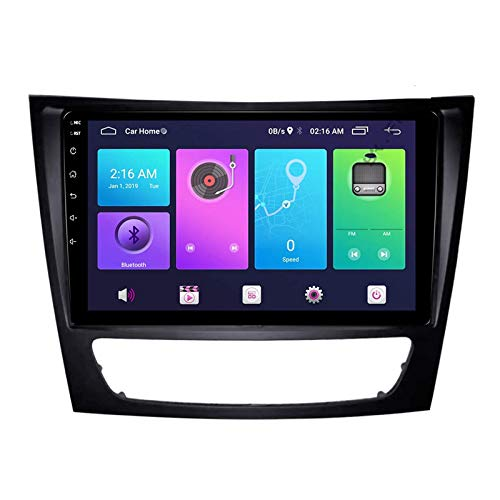 Android 10.0 Car Stereo Unidad principal de doble Din compatible con Mercedes-Benz E Class W211 W219 2005-2009 Navegación GPS 9 pulgadas MP5 Reproductor multimedia Radio Video Receptor Rastreador 4G