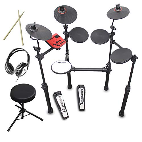 Carlsbro CSD100 R-PLUS Electronic Drum Kit 7 Piece Digital Set Stool and Headphones