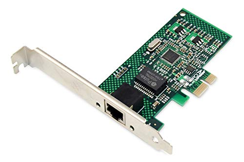 DIGITUS Interface Karte, PCIe, Gigabit Ethernet Netzwerkkarte, 1x RJ45 LAN, inkl. Low Profile Slotblende, Single-lane mit bis zu 2,5 Gbit/s, Chipsatz: Realtek RTL8168E