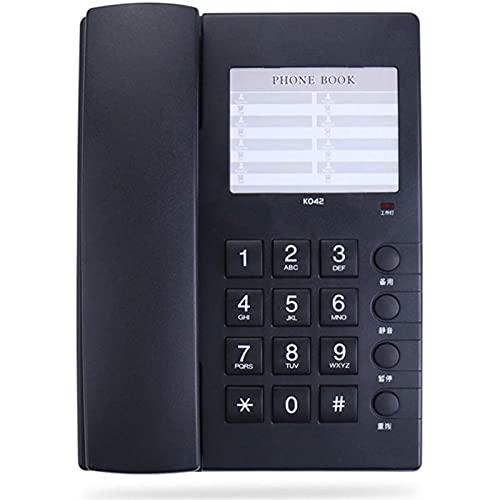 ZARTPMO Teléfono Fijo Fijo Teléfono con Cable para Montar En La Pared con Número De Teléfono Tarjeta Silenciar Botones Grandes Hotel En Casa Teléfono De Escritorio con Cable Teléfono Fijo De Oficina