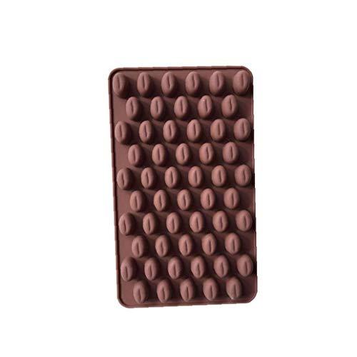 hvxjxk Kaffee Korn Shaped EIS/Kuchen/Brot/Backformen Schimmelpilze Silikon Non Stick Kuchen Gelegentliche Farbe