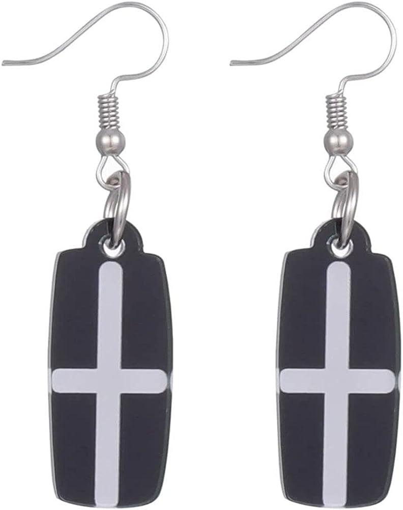 GDAMSTO Fashion Earrings Acrylic Charms Dangle Clip On Hoop Earrings