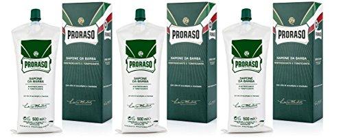 3X Proraso Sapone Barba Rinfrescante Tubo 500ML (3X500ML)