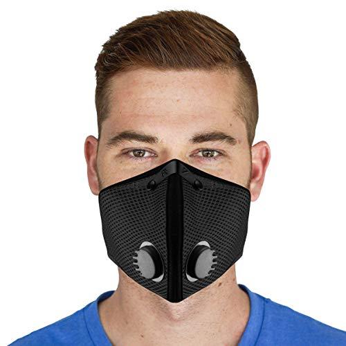 M2 Mesh Air Filtration Mask - Black - Large…