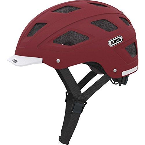 Abus Hyban Urban Helmet with Integrated LED Taillight, Marsala Red, Medium