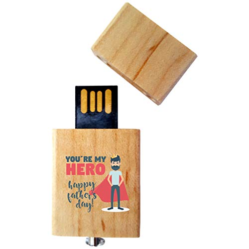 My Custom Style PenDriveUSB legno4,5x2,5x0,8cm#FestadelPapà-HappyFather5#32Gb