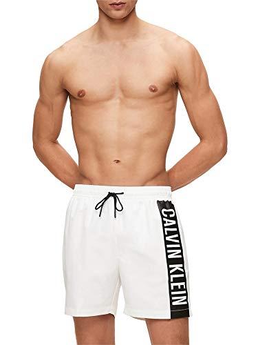 Calvin Klein Medium Drawstring Bañador, Blanco (PVH Classic White YCD), M para Hombre