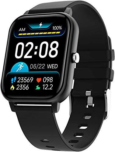 Reloj inteligente para exteriores, Full Touch, Bluetooth, frecuencia cardíaca, tipo táctil y tipo de teclas, IPS, material TFT, capacidad de la batería: 320 mAh, color azul y negro