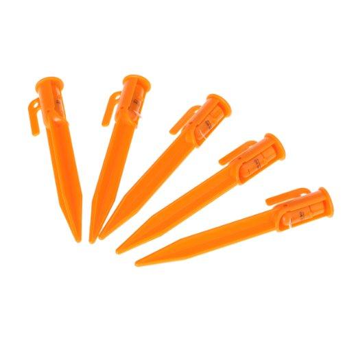Unbekannt Non-Brand 5 X ABS Zelthering Zelt Hering Zeltnägel Mit Einstellbar LED Licht
