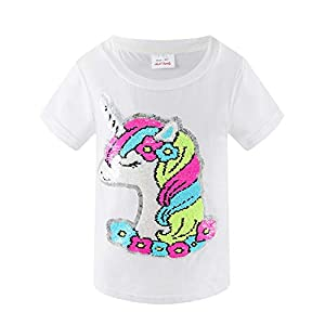 HH Family Girl's Unicorn Casual T-Shirt Birthday Top Tee