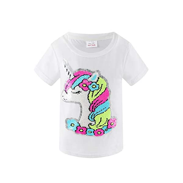 HH Family Girl's Unicorn Casual T-Shirt Birthday Top Tee 3