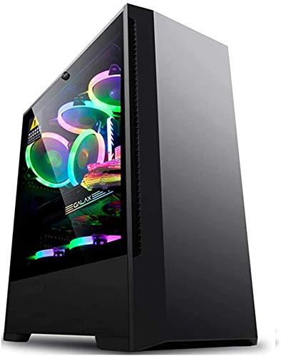 Wyl PC Gaming IR? Uso, Mid Tower ATX/M-ATX PC Caja de computadora, Lado Transparente, para computadoras de Escritorio PC, Soporte de refrigeración por Agua (Color : Black)
