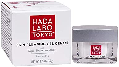 Hada Labo Tokyo Skin Plumping Gel Cream 1.76 Fl Oz - with Super Hyaluronic Acid & Collagen - 24 Hour Moisture & visible Line Plumping Fragrance & Paraben Free Non-Comedogenic (Packaging May Vary)
