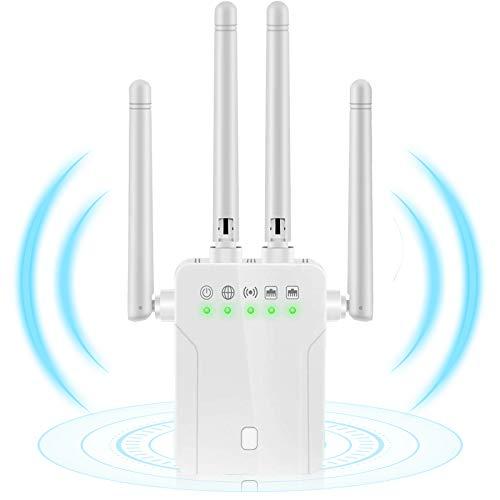 Amplificador Señal WiFi, Poderoso Repetidor WiFi de Doble Banda Usado como Extensor...