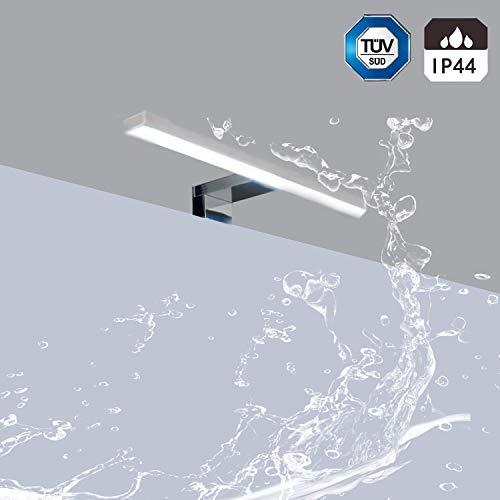 Aplique Espejo Baño LED Impermeable IP44 Kambo, Luz Espejo Baño 30 x 11 x 4cm, Lámpara de Espejo Led 5W Blanca Neutra 4000K 350LM Plástico ABS 230V para Apliques Baño, Armario, Pared