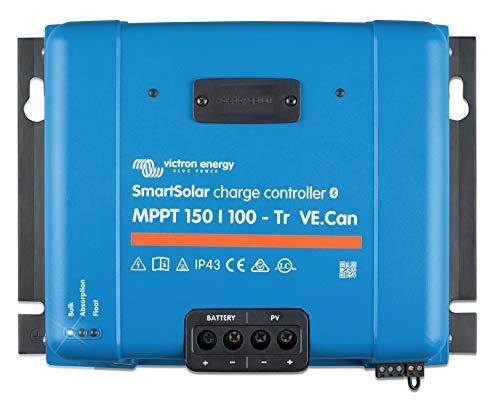 Victron Energy SmartSolar MPPT Tr VE. Can 150V 100 amp 12/24/36/48-Volt Solar Charge Controller (Bluetooth)