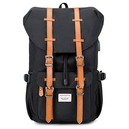 Reisen Laptop Geschäft Rucksack- Lässiger Outdoor-Daypack Uni Schulrucksack mit USB-Ladeanschluss Für 17,7