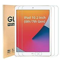 [2パック] iPad 10.2 スクリーンプロテクター 強化ガラス、スクリーンプロテクター iPad 第8&第7世代 (2020 2019年発売) 用