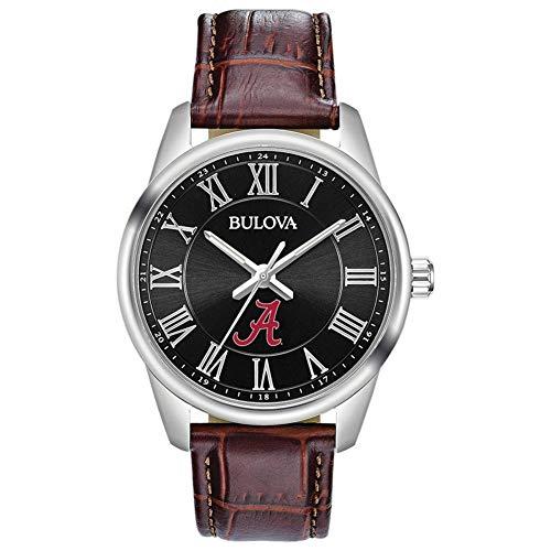 Bulova Men's Alabama Crimson Tide Bama Brown Leather Watch