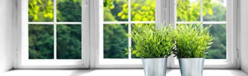 insidehome/Infrarotheizung Bildheizung SLIM/Stahlblech rahmenlos/extra schlank/mit hochwertigem Druck und Schutzlack / 600 Watt lang, 130x40x1,5 cm/für 10-12 m² / Motiv: Fensterbank