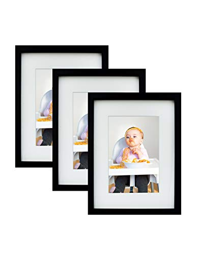 BD ART 3er Set 15 x 21 cm Bilderrahmen, 3-Pack, Schwarz