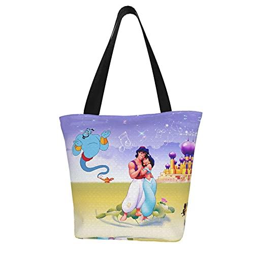 Aladdin Magic Lamp - Bolsa de compras de algodón ligero para mujer,...