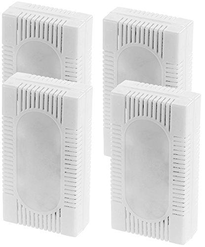 Sichler Haushaltsgeräte Kühlschrankzubehör: 4er-Set 3in1-Kühlschrank-Frisch gegen Gerüche, Feuchtigkeit & Schimmel (Luftentfeuchter Kühlschrank)