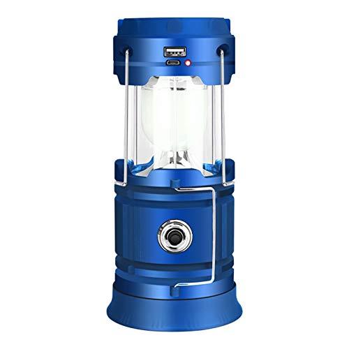Waroom Farol de camping a LED, luz de emergencia para todas las estaciones, luz recargable por USB, luz para cortinas, resistente al agua, para camping, senderismo, interrupciones de corriente y otros
