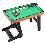 ZXQZ Piscina de Mesa Plegable, Juego de Billar Snooker En Miniatura Portátil para Jugar En Familia, Fieltro Verde Mini mesas de Billar