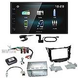 Kenwood DMX-125DAB Bluetooth USB DAB+ MP3 Digitalradio Autoradio Einbauset für Hyundai i30 GD GDH
