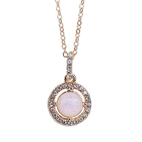 UINGKID Damen Halskette Anhänger Schmuck Mode Einfache Multicolor Diamond Moon Hexagonal Star Ring