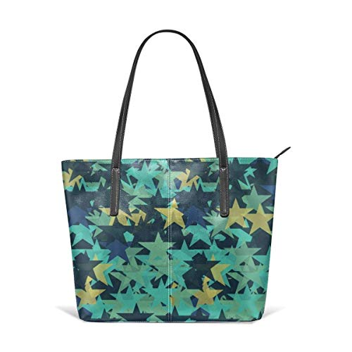 BAODANLA Borse a spalla da donna Women's Stylish Casual Tote Bag Canvas Travel Bags Blue Star Shoulder Bags