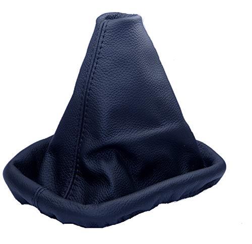 Inter-Sale L&P A0028 Soufflet Sac Manchette Manchon de Commutation 100% Cuir véritable veritable Noir Noire Couture Fil Noir Transmission Manuelle boîte Boite Vitesse Vitesses Changement Vitesse