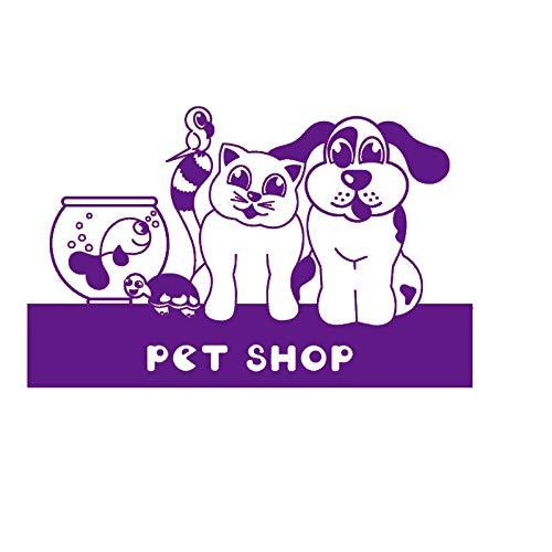guijiumai Dctal Dog Grooming Salon Pet Shop Sticker Decal Muurstickers Posters Vinyl Wall Art Decals Parede Decor Mural Pet Shop Sticker 5 58x85cm