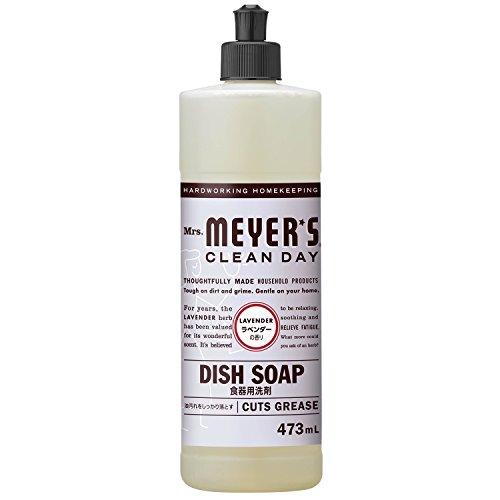 ミセスマイヤーズ クリーンデイ(Mrs.Meyers Clean Day) 食器用洗剤 ラベンダーの香り 473mL