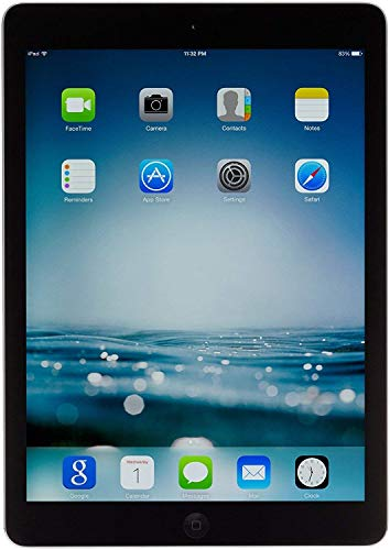 Apple iPad Air MD786LL/A – A1474 (32GB, Wi-Fi, Black with Space Gray) (Renewed)
