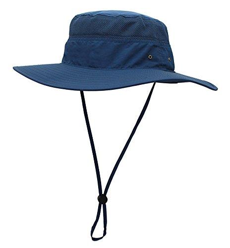 Saoirse.Hats Hut Herren Sommer Outdoor, Sonnenhut Männer UV Schutz, Fischerhut Unisex Faltbar Atmungsaktiv, Wanderhut Erwachsene Größe 60, Blau