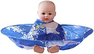 GreenLife® Umbrella Style Hair Cutting Cloak Cape Salon Barber Hairdressing Gown (Small or for child kids, Blue)