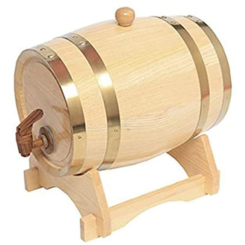 5 litros Whiskey Barrel Dispenser Wood Oak Wine Barrel Decanter para la Tabla de Sirviendo Casa Acento Mostrar almacenamiento de espíritus, licores, Whisky,B,5L