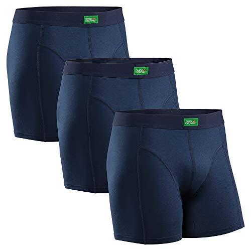 DANISH ENDURANCE Boxershorts aus Bio-Baumwolle (Blau - 3 Pack, Medium)