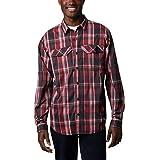 Columbia Silver Ridge Lite Camisa de Manga Larga a Cuadros, Secado rápido, protección Solar, Silver Ridge Lite Plaid - Camiseta de Manga Larga, Hombre, Color Negro Multi Plaid, tamaño Small