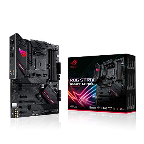ASUS ROG STRIX B550-F GAMING, Scheda madre Gaming AMD B550 ATX, PCIe 4.0, fasi di alimentazione in team, 2.5Gb Lan, doppio M.2, SATA 6 Gbps, USB 3.2 Gen 2, Aura Sync RGB