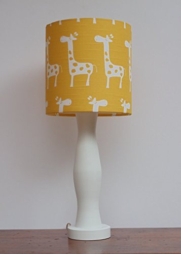 Yellow with White Giraffes Lamp Shade