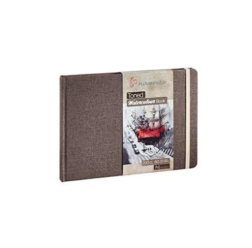 Hahnemühle Toned Watercolor Book - Cuaderno de acuarela (200 g/m², 30 hojas, grano fino, incluye lápiz (DIN A6)