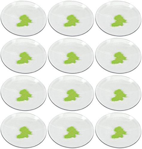Eisco Labs - Juego de 12 tapas para vasos de cristal, 7,5 cm de diámetro, pulidas con bordes de tierra