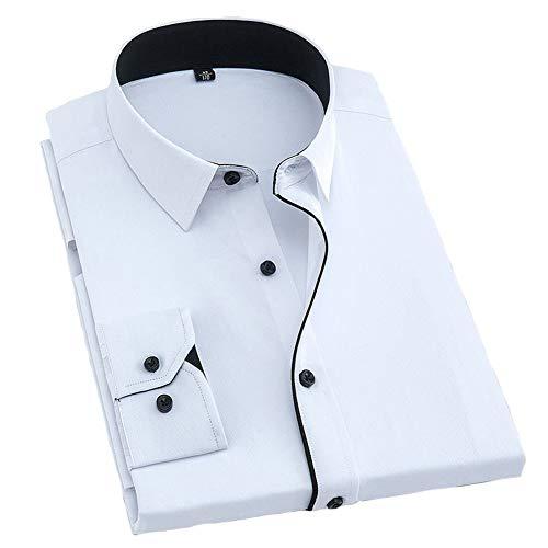 Herren Hemden Loose Casual Shirt Langarm, Revers Full Button Taschenstreifen Unifarben, Business Office Daily Leisure