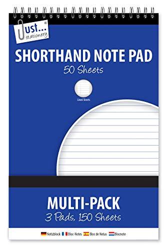 Just Stationery - 3cuadernos de taquigrafías de 100páginas