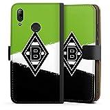 DeinDesign Klapphülle kompatibel mit Huawei P Smart 2019 Handyhülle aus Leder schwarz Flip Case Gladbach Borussia Mönchengladbach Offizielles Lizenzprodukt